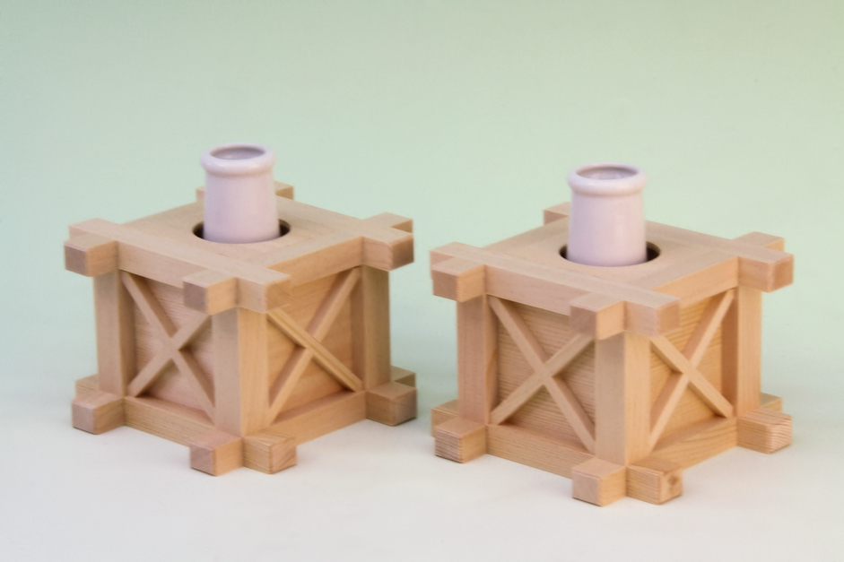 おまかせ工房 木製花台 上品